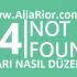 404 Hatası Nasıl Düzeltilir?